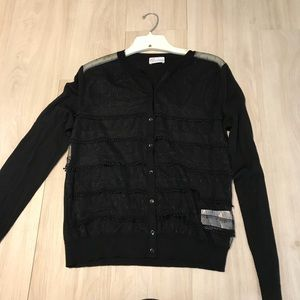 Red Valentino Wool Lace Sweater